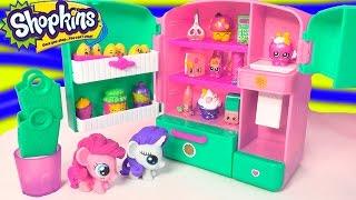 getlinkyoutube.com-Shopkins Season 3 Metallic So Cool Fridge Refrigerator Toy Playset with MY Little Pony Fash'ems