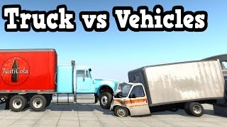 getlinkyoutube.com-BeamNG Drive - Semi Truck Crushing Vehicles