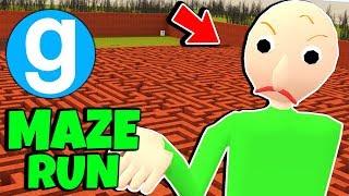 Angry Baldi's Basics Maze Run #6 Gmod Sandbox Garry's Mod