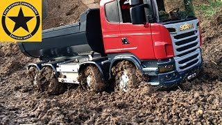 getlinkyoutube.com-BRUDER Toys TRUCK Muddy SCANIA MAGOM HRC in Jack's bworld CONSTRUCTION