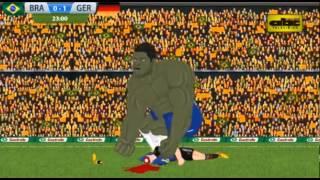 La parodia de Brasil 1 vs. Alemania 7 con la clasificación de Argentina a la final