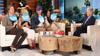 getlinkyoutube.com-Ashton Kutcher and Dax Shepard Surprise Mila Kunis and Kristen Bell to Play 'Never Have We Ever'