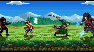 Hashirama and Madara VS Luffy and Zoro in M U G E N