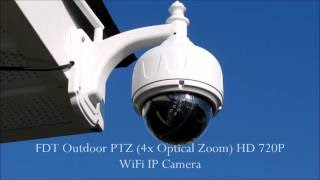 getlinkyoutube.com-FDT Outdoor PTZ 4x Optical Zoom HD 720P WiFi IP Camera