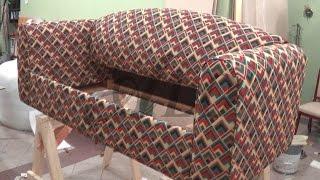 getlinkyoutube.com-DIY: HOW TO REUPHOLSTER A SOFA BED - ALO Upholstery
