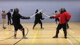 Black Fencer V5 sabre in action - Josh vs Nick