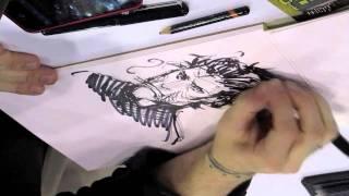 getlinkyoutube.com-SEAN MURPHY SKETCHES CONSTANTINE @ NYCC-10-17-11