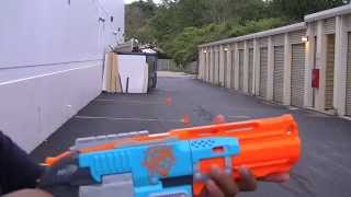 getlinkyoutube.com-Nerf Zombie Strike Sledgefire Firing Test