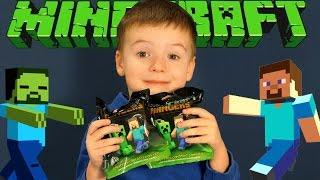 getlinkyoutube.com-Игрушки Майнкрафт - минифигурки - брелки. Minecraft Toys - Hangers - Action Figures. Кока Туб