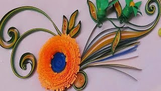 getlinkyoutube.com-Quilling | Made Easy # How to make Beautiful Orange Flower using Paper -Quilling Card