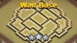 getlinkyoutube.com-TH8 (Town Hall 8) War Base Anti 3 Star + Defense Log | Anti Hogs/Gowipe/Dragon | Clash Of Clans