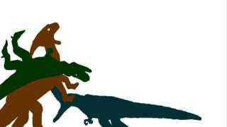 getlinkyoutube.com-Parasaurolophus vs Nanotyrannus