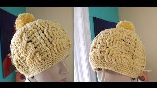 getlinkyoutube.com-Crochet gorro de trenzas para adulto - con Ruby Stedman