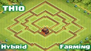 getlinkyoutube.com-Clash of Clans - TownHall10 Farming/Hybrid Base | New Update | 275 Walls
