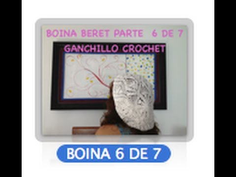 6 DE 7 COMO TEJER GORRO BOINA DISEO PIAS GANCHILLO CROCHET, DIY TUTORIAL