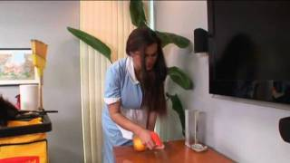 getlinkyoutube.com-hot house maid undoing her shirt showing her breasts
