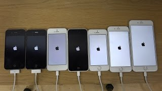 iPhone 6 Plus vs. 6 vs. 5S vs. 5C vs. 5 vs. 4S vs. 4 - Which Is Faster? (4K)