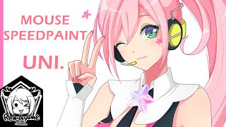 [Mouse Speedpaint]  UNI - Vocaloid Korean [SAI]