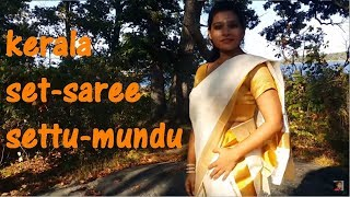getlinkyoutube.com-kerala set saree, settu-mundu drapes (+sub)