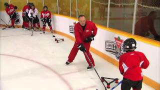 getlinkyoutube.com-NHL Skills: Off Board Passing From Canadian Tire Hockey School