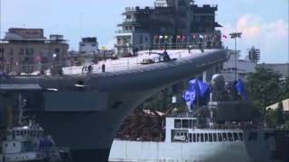 getlinkyoutube.com-India's maiden indigenous aircraft carrier undocked at southern Indian coast