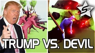 "getlinkyoutube.com-TRUMP VS DEVIL!! - ""ASSAULT ON HELL!"" - Totally Accurate Battle Simulator - TABS Gameplay"