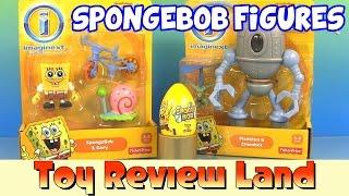 getlinkyoutube.com-Imaginext SpongeBob Squarepants & Gary, Plankton & Chumbot