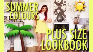 getlinkyoutube.com-PLUS SIZE LOOKBOOK || SUMMER COLOURS || Tanisha Degutis