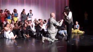 getlinkyoutube.com-Airman surprises girlfriend dance teacher with on-stage wedding proposal