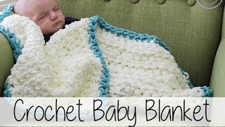 Easy Beginner Crochet Baby Blanket | Sewrella