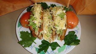 getlinkyoutube.com-Tacos de pollo al estilo Mexicano Receta fácil