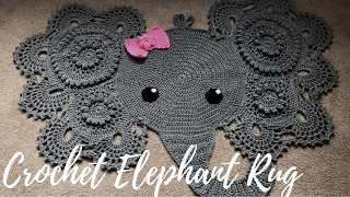 Homemade Crochet Elephant Rug with Bow: A Glimpse Into How I Made It width=