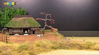 getlinkyoutube.com-Diorama - Autumn Countryside ミニチュア秋の田園風景作り