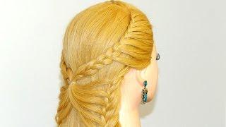 getlinkyoutube.com-Hairstyle for long hair. Butterfly braid