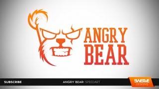 "Swerve™ Graphic designer: Speedart | ""Angry Bear"" Logo Design Illustration by Swerve Designs"