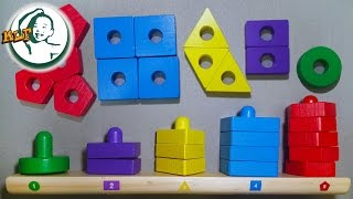 Learn color for kids with Stack & Sort Board - Melissa & Doug