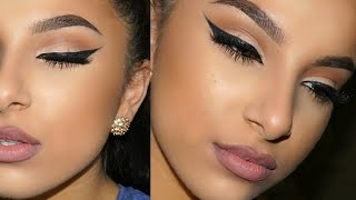 getlinkyoutube.com-Winged Liner & Bold Brow Tutorial   Makeup By Leyla