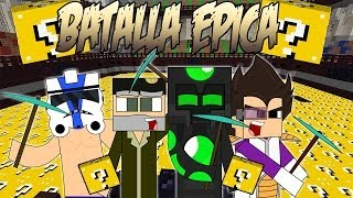 getlinkyoutube.com-BATALLA ÉPICA - aLexBY vs VEGETTA vs Willyrex vs sTaXx - Lucky Blocks PVP - MINECRAFT