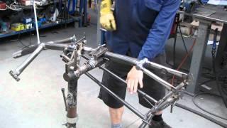 getlinkyoutube.com-Building a recumbent tricycle frame part 2