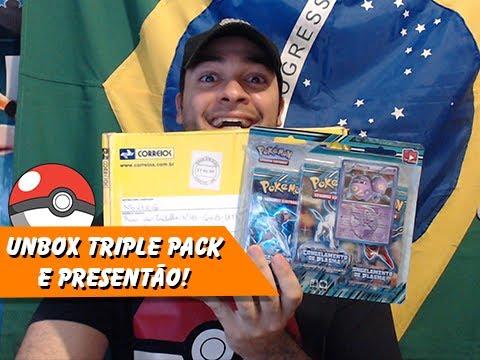 5º Pokémon TCG: Unbox Triple Pack e Presentão Cabuloso