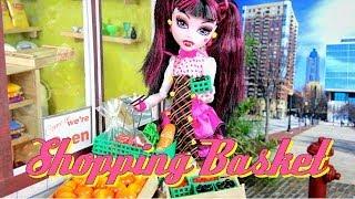 getlinkyoutube.com-DIY - How to Make: Doll Shopping Basket - Handmade - Doll - Crafts