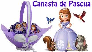 getlinkyoutube.com-Como hacer  Canasta de Pascua de Princesita Sofia | El Mundo de MyG