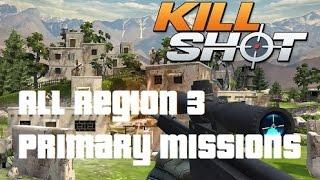 getlinkyoutube.com-Kill Shot All Primary Mission Region 3 Walkthrough Gameplay (IOS/Android)