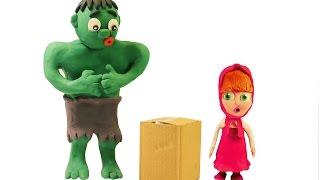 Hulk & Masha Catch The Mouse - Elsa Spiderman Zig & Sharko SpongeBob Patrick Star