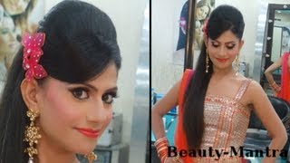 getlinkyoutube.com-Indian Wedding Makeup - Vibrant Engagement Look - Complete Hair And Makeup