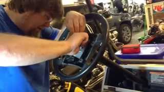 getlinkyoutube.com-Club car steering wheel removal and installation