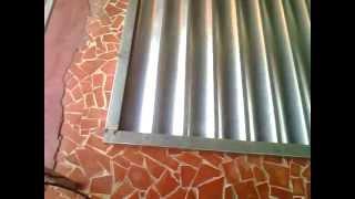 getlinkyoutube.com-Como fazer portão de chapa lambri buzios