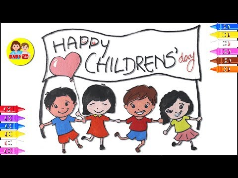 Download Thumbnail For How To Draw Children Day Drawing Easy