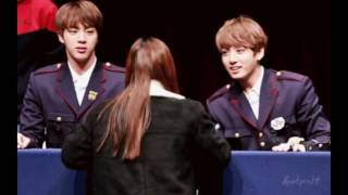 JIN AND JUNGKOOK AT FANSIGNS - JINKOOK