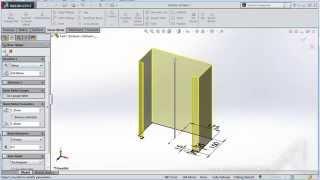 getlinkyoutube.com-Basic การใช้งาน Solidworks SheetMetal การเขียนตู้คอนโทรล